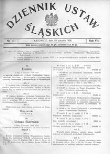 Dziennik Ustaw Śląskich, 10.08.1928, R. 7, nr 17