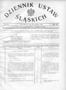 Dziennik Ustaw Śląskich, 28.09.1928, R. 7, nr 20