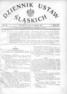 Dziennik Ustaw Śląskich, 14.11.1928, R. 7, nr 24