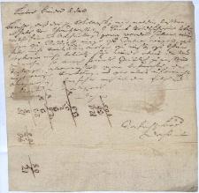 List dziekana [Jana Adama] Fritscha do brata Adama, na temat dzików złapanych przez pana Sokołowskiego w okolicach Strumienia