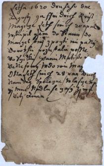 Fragmenty pamiętnika Fryderyka Reissa z Cieszyna z l. 1620-1625