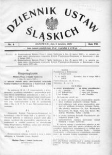 Dziennik Ustaw Śląskich, 06.04.1929, R. 8, nr 4