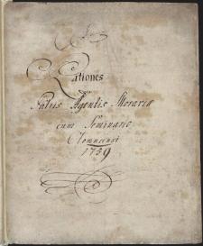 Rationes Patris Agentis Moraviae cum Seminario Olomucensis 1759