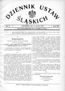 Dziennik Ustaw Śląskich, 12.06.1929, R. 8, nr 8