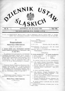Dziennik Ustaw Śląskich, 20.06.1929, R. 8, nr 9