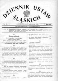 Dziennik Ustaw Śląskich, 14.10.1929, R. 8, nr 13