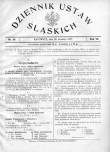 Dziennik Ustaw Śląskich, 30.09.1927, R. 6, nr 20