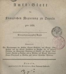 Amts-Blatt der Königlichen Regierung zu Oppeln pro 1839, 24 Bd.