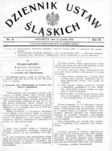 Dziennik Ustaw Śląskich, 15.12.1930, R. 9, nr 21