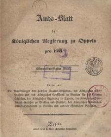 Amts-Blatt der Königlichen Regierung zu Oppeln pro 1849, 34 Bd.