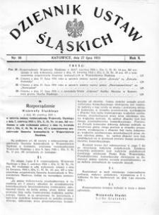 Dziennik Ustaw Śląskich, 27.07.1931, R. 10, nr 16