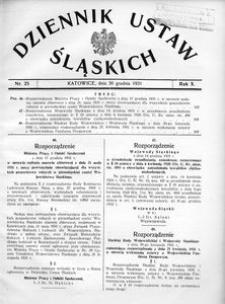 Dziennik Ustaw Śląskich, 30.12.1931, R. 10, nr 25