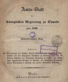 Amts-Blatt der Königlichen Regierung zu Oppeln pro 1850, 35 Bd.
