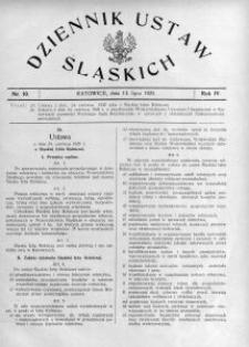 Dziennik Ustaw Śląskich, 13.07.1925, R. 4, nr 10