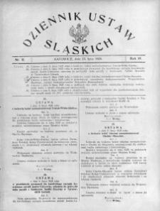 Dziennik Ustaw Śląskich, 23.07.1925, R. 4, nr 11