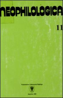 Neophilologica. Tom. 11: Studia językoznawcze