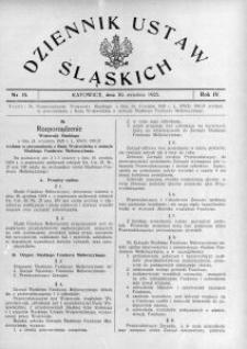Dziennik Ustaw Śląskich, 30.09.1925, R. 4, nr 15