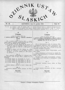 Dziennik Ustaw Śląskich, 21.12.1925, R. 4, nr 18