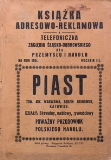 Książka adresowo-reklamowa i telefoniczna Zagłębia Śląsko-Dąbrowskiego dla przemysłu i handlu na rok 1924