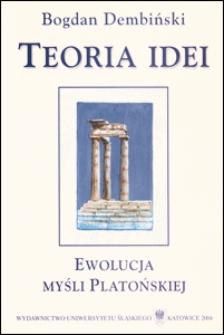Teoria idei : ewolucja myśli platońskiej