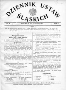 Dziennik Ustaw Śląskich, 15.04.1932, R. 11, nr 9