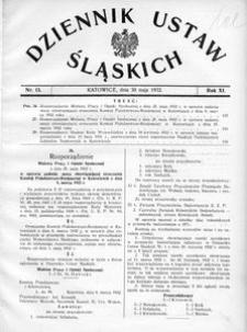 Dziennik Ustaw Śląskich, 30.05.1932, R. 11, nr 13