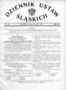 Dziennik Ustaw Śląskich, 27.06.1932, R. 11, nr 16