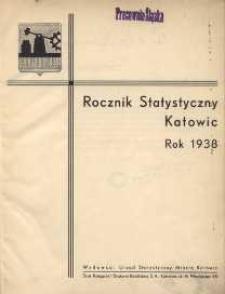 Rocznik Statystyczny Katowic Rok 1938