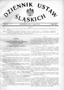 Dziennik Ustaw Śląskich, 01.02.1933, R. 12, nr 3