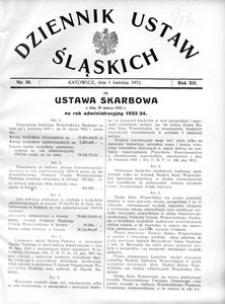 Dziennik Ustaw Śląskich, 01.04.1933, R. 12, nr 10