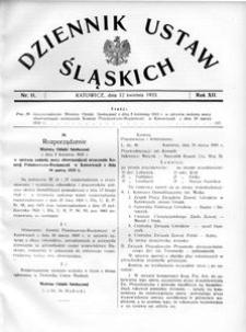 Dziennik Ustaw Śląskich, 12.04.1933, R. 12, nr 11