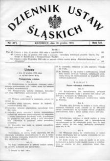 Dziennik Ustaw Śląskich, 30.12.1933, R. 12, nr 30