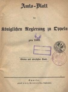 Amts-Blatt der Königlichen Regierung zu Oppeln pro 1862, 47 Bd.