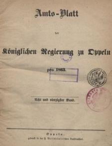 Amts-Blatt der Königlichen Regierung zu Oppeln pro 1863, 48 Bd.