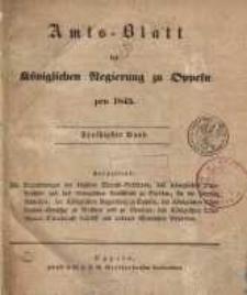 Amts-Blatt der Königlichen Regierung zu Oppeln pro 1845, 30 Bd.