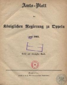 Amts-Blatt der Königlichen Regierung zu Oppeln pro 1861, 46 Bd.