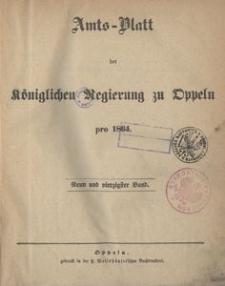 Amts-Blatt der Königlichen Regierung zu Oppeln pro 1864, 49 Bd.