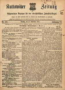 Kattowitzer Zeitung, 1875, Jg. 7, nr110