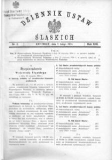 Dziennik Ustaw Śląskich, 07.02.1934, R. 13, nr 2