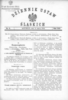 Dziennik Ustaw Śląskich, 31.03.1934, R. 13, nr 8