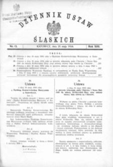 Dziennik Ustaw Śląskich, 25.05.1934, R. 13, nr 13