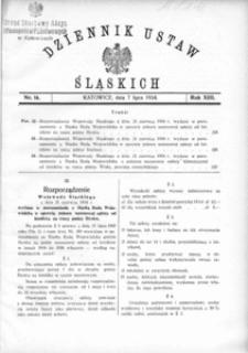 Dziennik Ustaw Śląskich, 07.07.1934, R. 13, nr 16