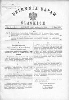 Dziennik Ustaw Śląskich, 01.10.1934, R. 13, nr 19