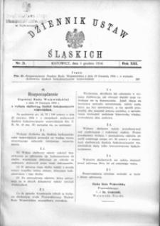 Dziennik Ustaw Śląskich, 01.12.1934, R. 13, nr 21