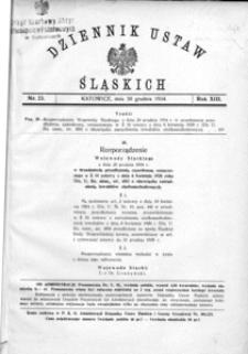 Dziennik Ustaw Śląskich, 30.12.1934, R. 13, nr 23