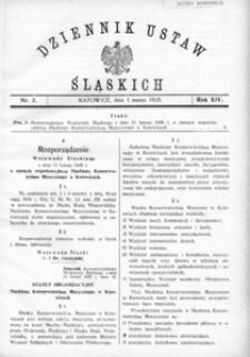 Dziennik Ustaw Śląskich, 01.03.1935, R. 14, nr 2