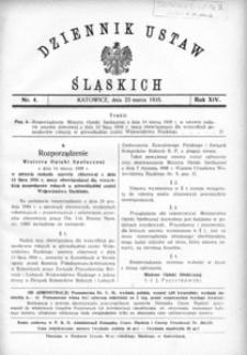 Dziennik Ustaw Śląskich, 23.03.1935, R. 14, nr 4