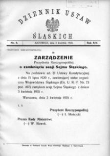 Dziennik Ustaw Śląskich, 03.04.1935, R. 14, nr 8