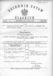 Dziennik Ustaw Śląskich, 15.05.1935, R. 14, nr 11