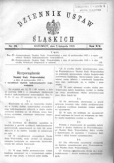 Dziennik Ustaw Śląskich, 05.11.1935, R. 14, nr 20